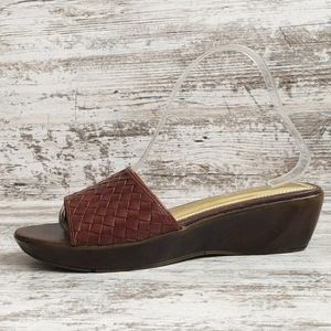 ⚅NWOT Naturalizer Woven Leather Wedge